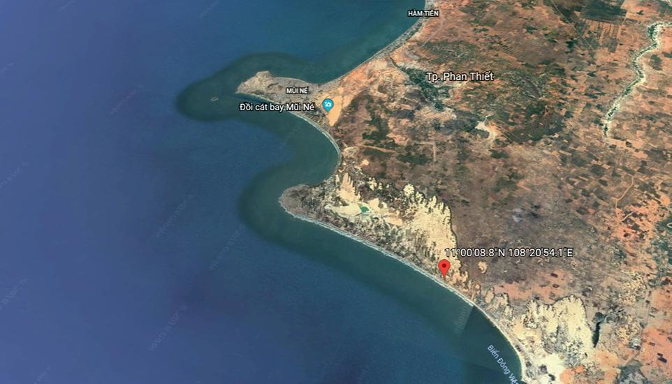 Bản đồ vị trí dự án Apec Mũi Né