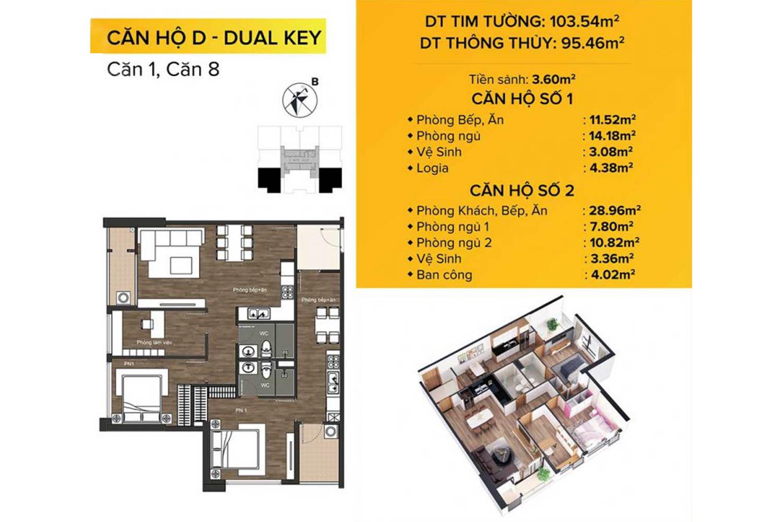 Căn hộ đẹp nhất Akari City Bình Tân Dual Key