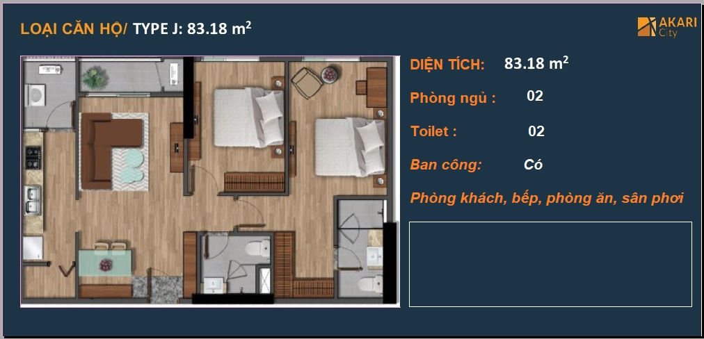 mat bang can ho akari city 83m2