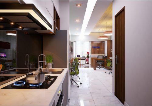 Nhà bếp căn hộ Officetel Charmington La Pointe
