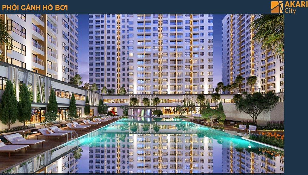 Phối cảnh hồ bơi căn hộ Akari City