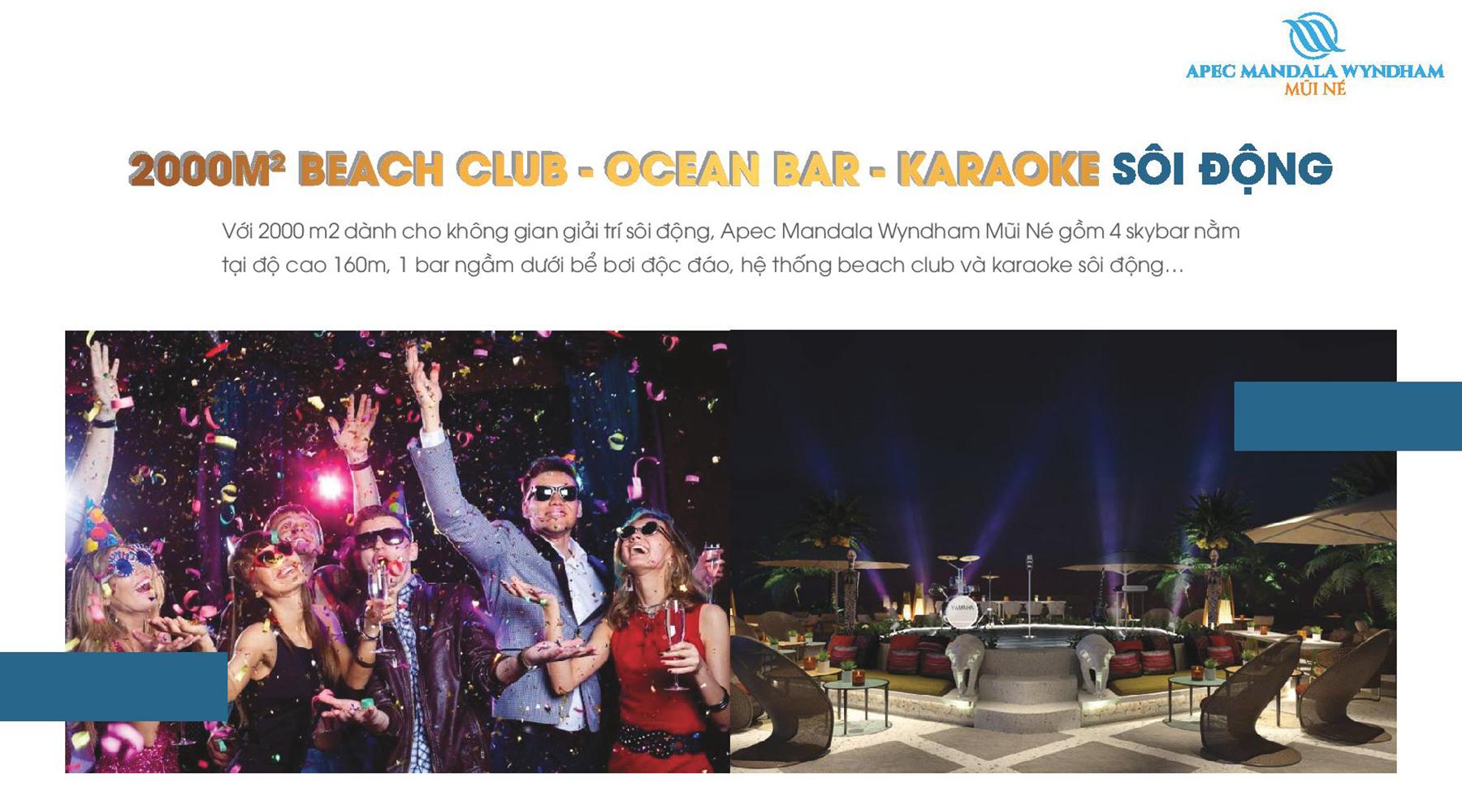 Tiện ích dự án Apec Mandala Wyndham Mũi Né 2000m2 Beach Club