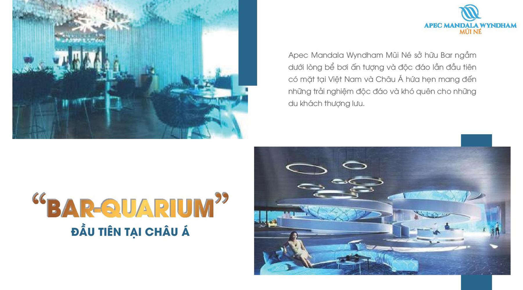 Tiện ích dự án Apec Mandala Wyndham Mũi Né Bar Quarium