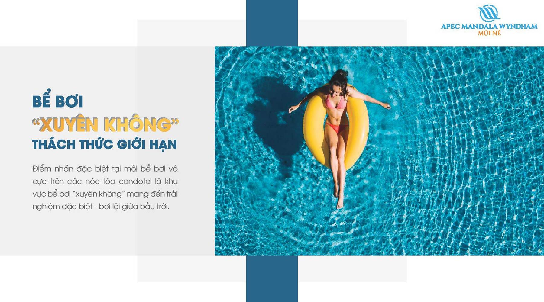 Tiện ích dự án Apec Mandala Wyndham Mũi Né Bể Bơi Xuyên Không