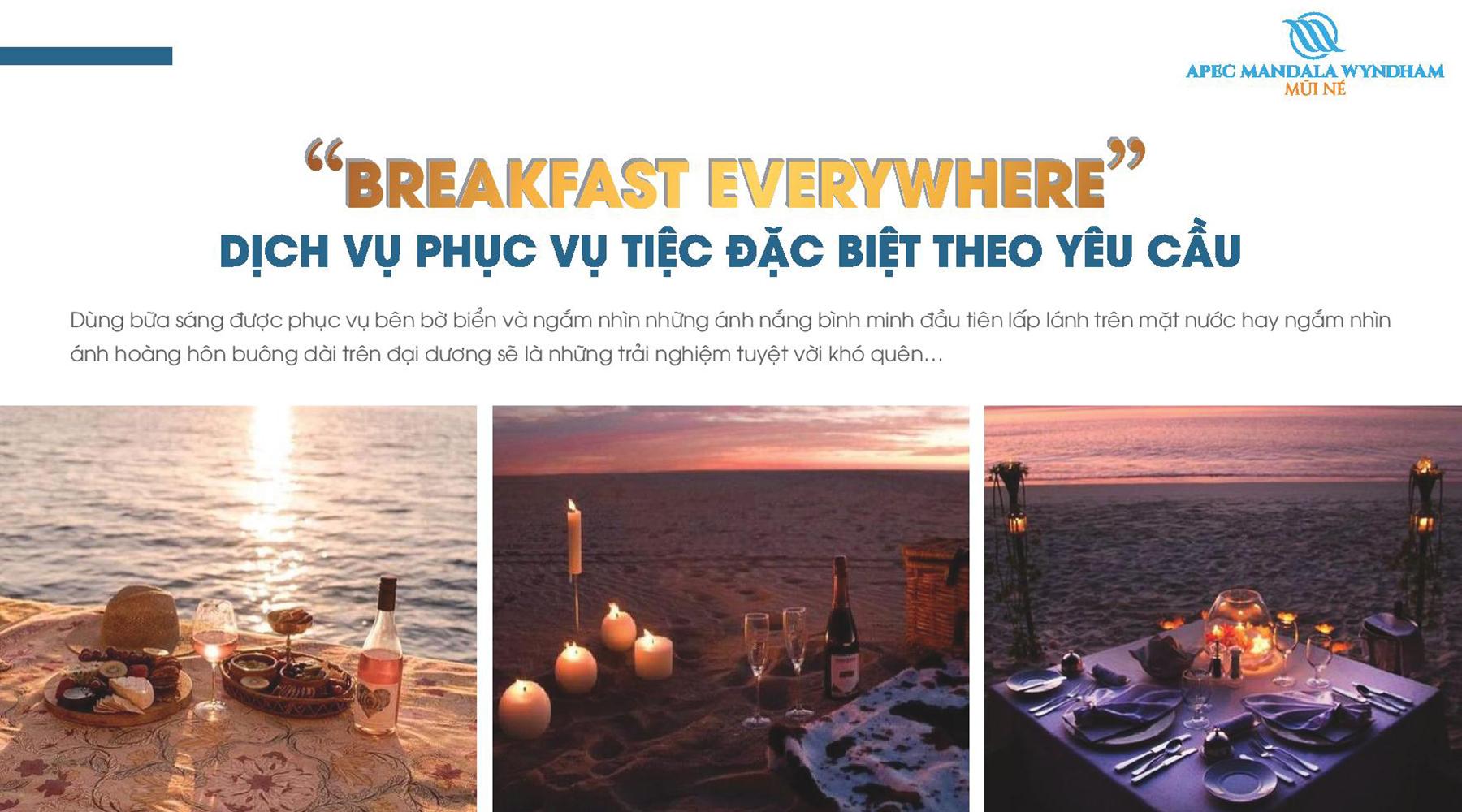 Tiện ích dự án Apec Mandala Wyndham Mũi Né Breakfast Everywhere