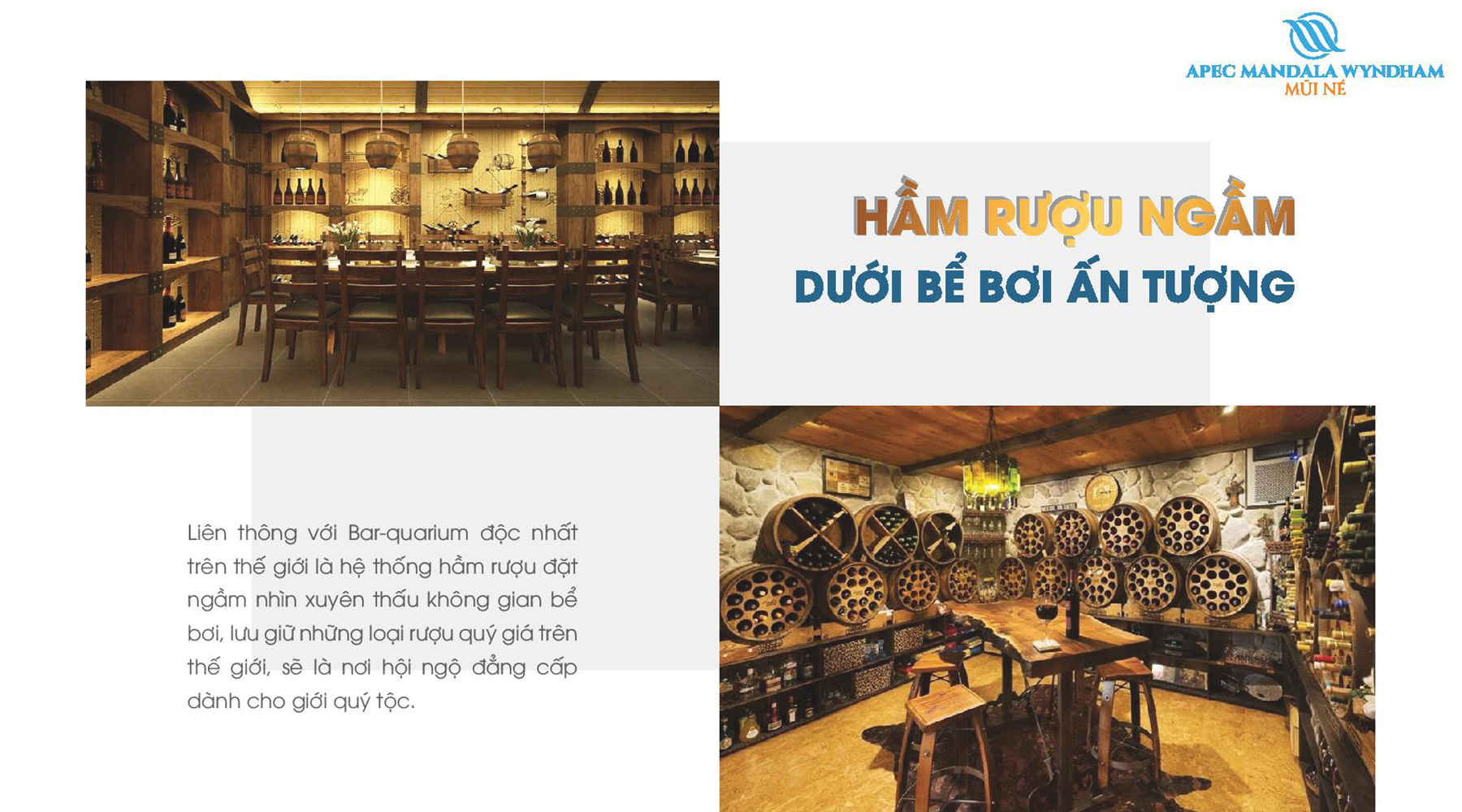 Tiện ích dự án Apec Mandala Wyndham Mũi Né Hầm Rượu