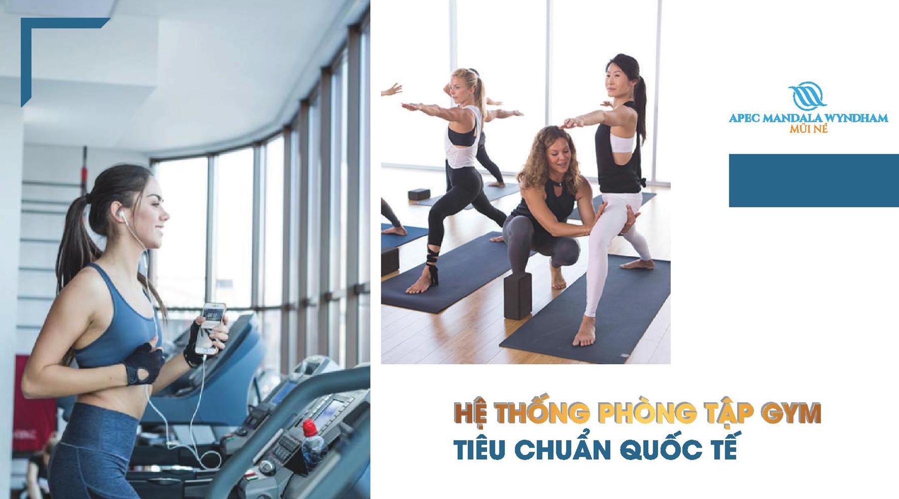 Tiện ích dự án Apec Mandala Wyndham Hệ thống phòng tập Gym