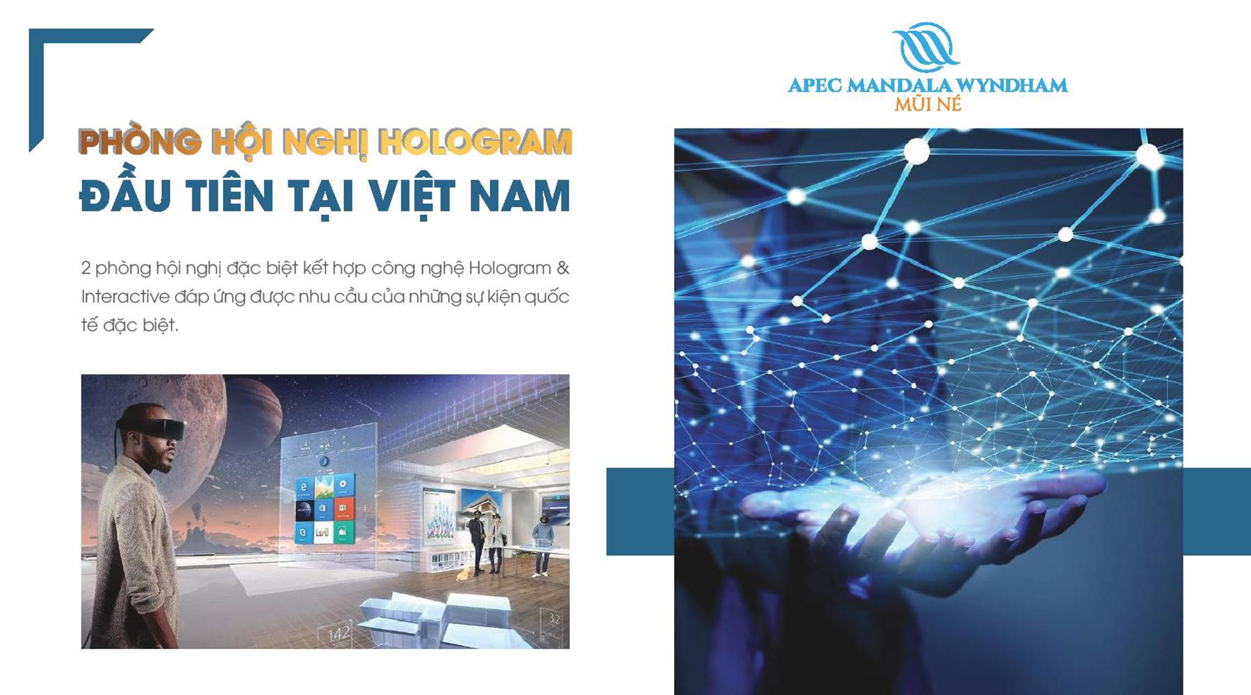 Tiện ích dự án Apec Mandala Wyndham phòng hội nghị Hologram