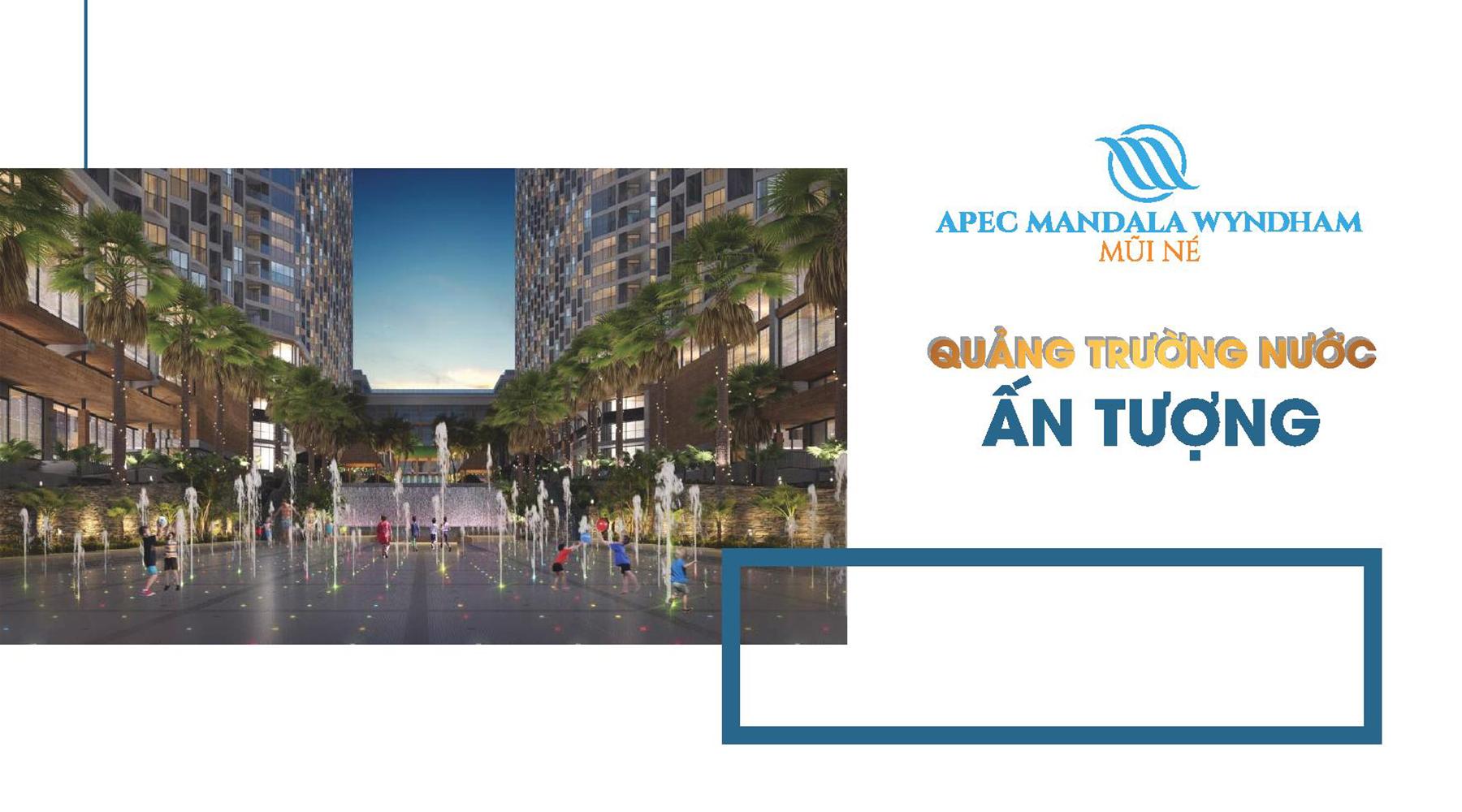 Tiện ích dự án Apec Mandala Wyndham Quảng trường nước