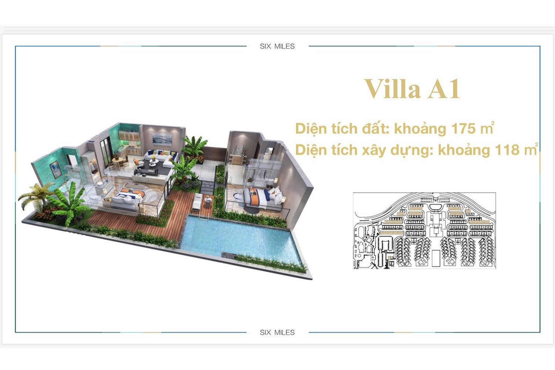Mặt bằng Villa A1 dự án 6 Miles Coast Resort