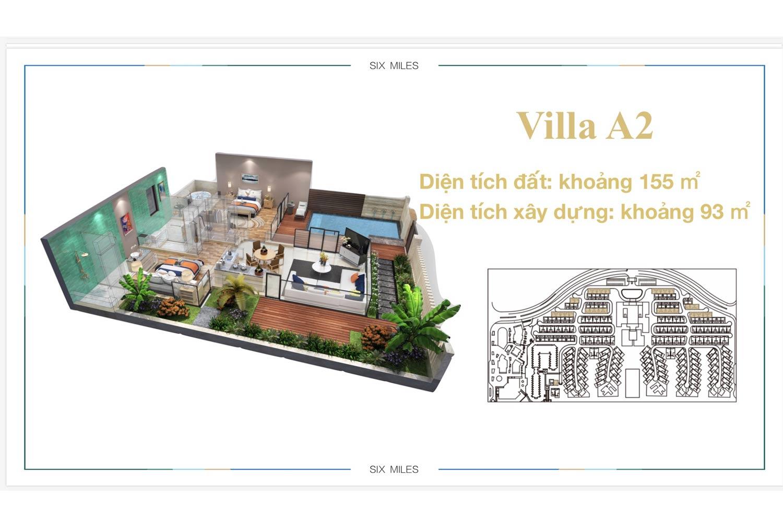 Mặt bằng Villa A2 dự án 6 Miles Coast Resort