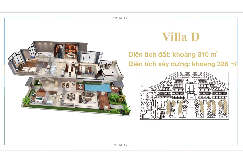 Mặt bằng Villa D dự án 6 Miles Coast Resort