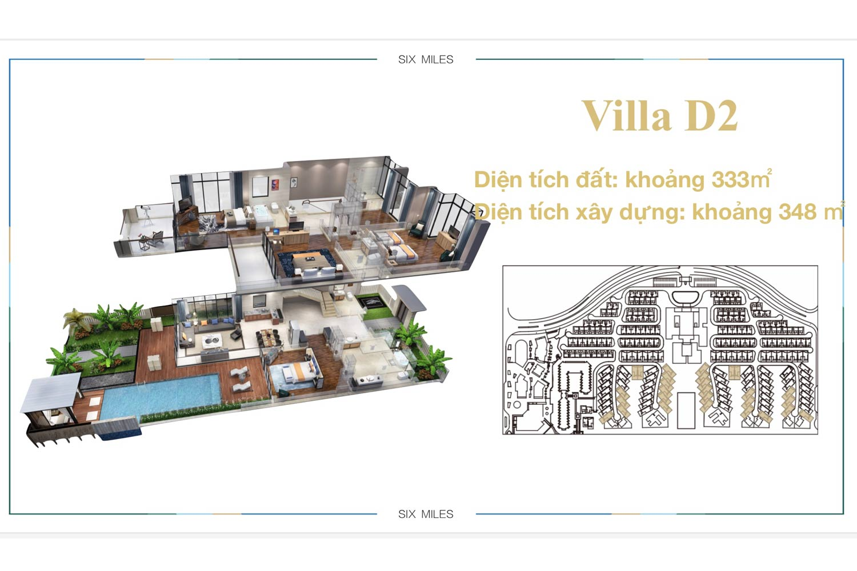 Mặt bằng Villa D2 dự án 6 Miles Coast Resort
