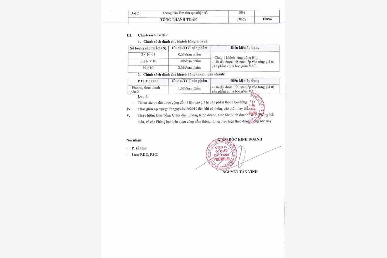 Phương thức thanh toán dự án đất nền Tân Phước Khánh 02