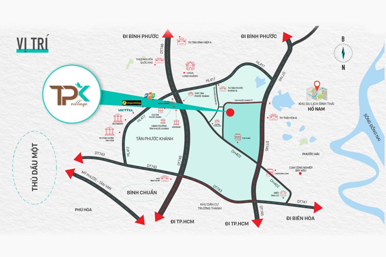 Tiện ích ngoại khu dự án đất nền Tân Phước Khánh