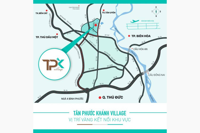 Vị trí dự án đất nền Tân Phước Khánh