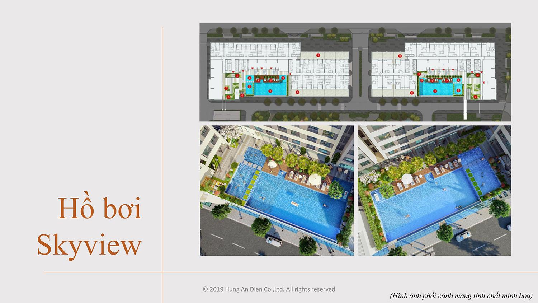 Hồ bơi Skyview trong dự án Aio City