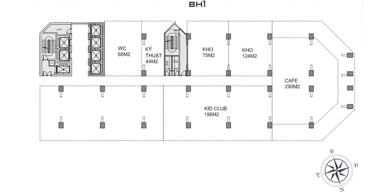 Mặt bằng dự án Apec Mandala Wyndham Mũi Né tầng BH1