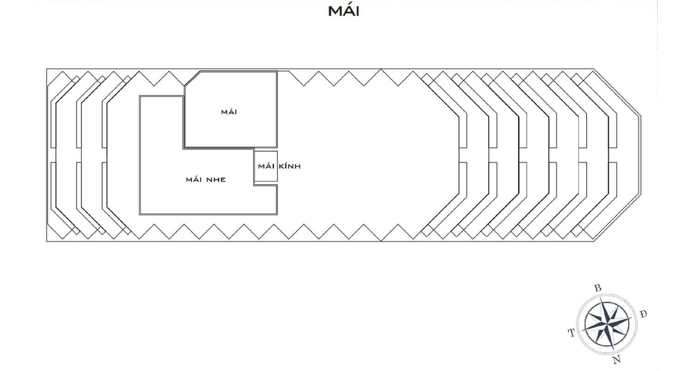Mặt bằng dự án Apec Mandala Wyndham Mũi Né tầng mái