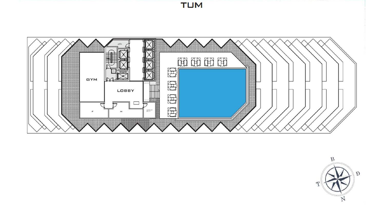 Mặt bằng dự án Apec Mandala Wyndham Mũi Né tầng Tum