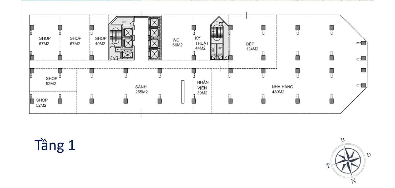 Mặt bằng dự án Apec Mandala Wyndham Mũi Né tầng 1