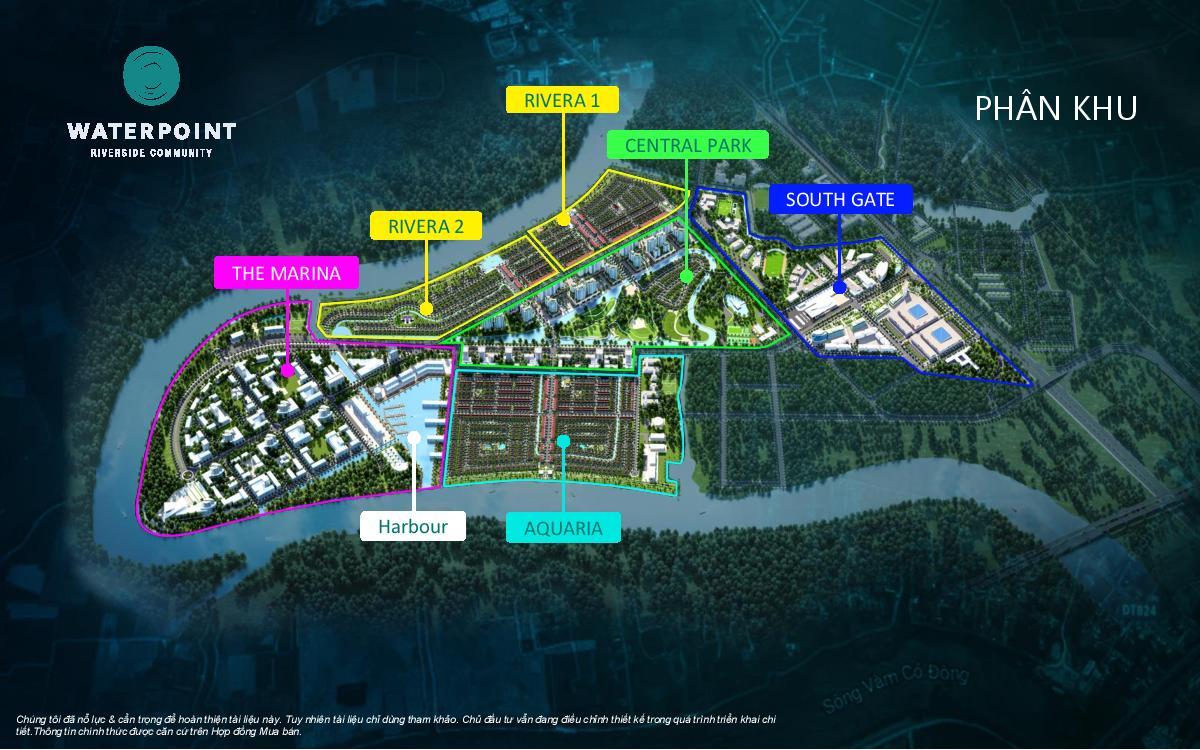Phân khu dự án khu đô thị Waterpoint