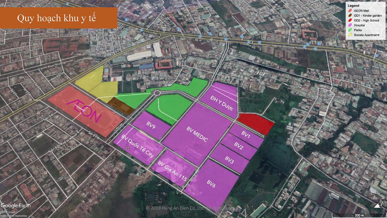 Quy hoạch khu y tế dự án căn hộ Aio City Bình Tân
