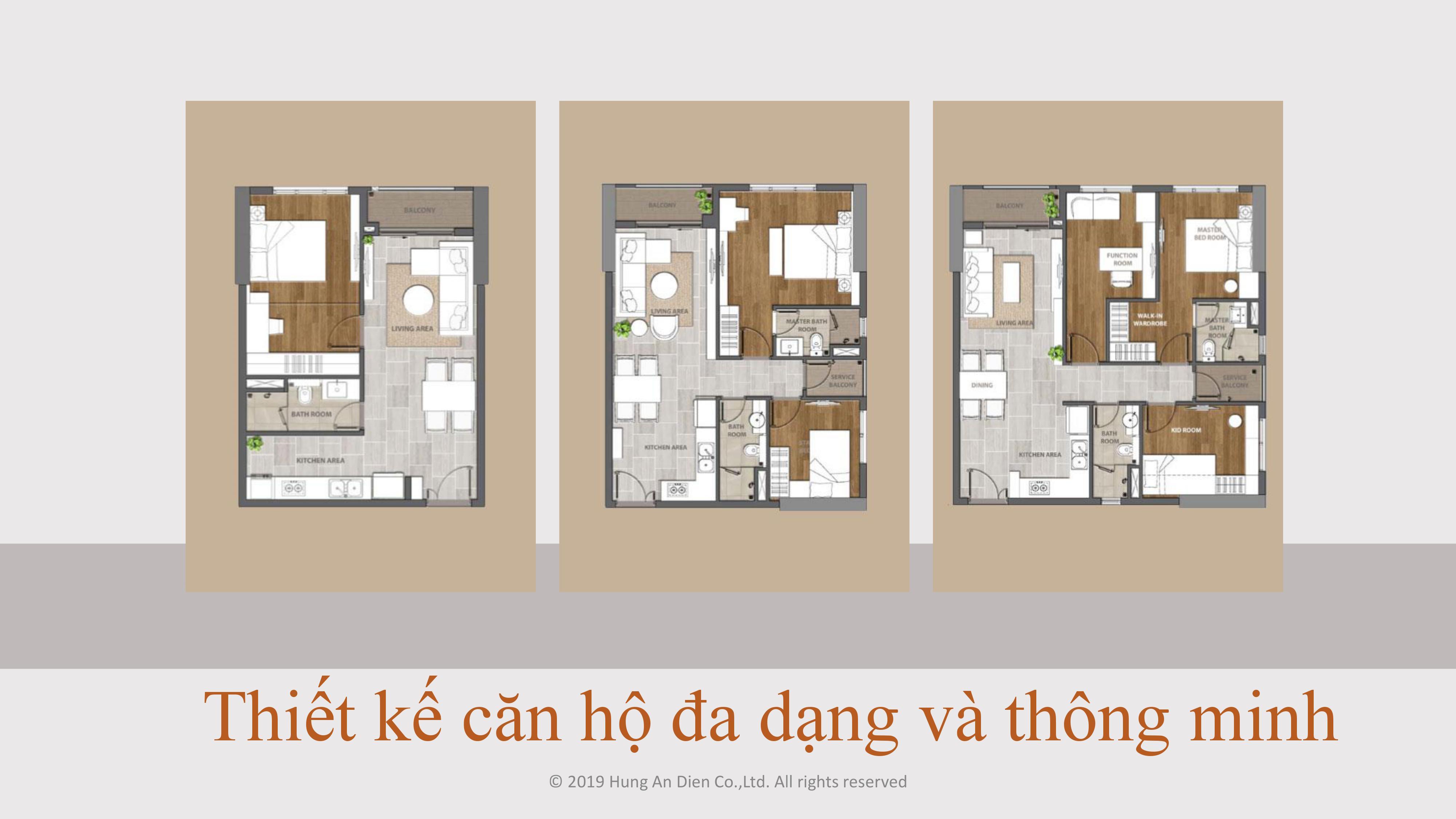 Thiết kế căn hộ Aio City hình 01
