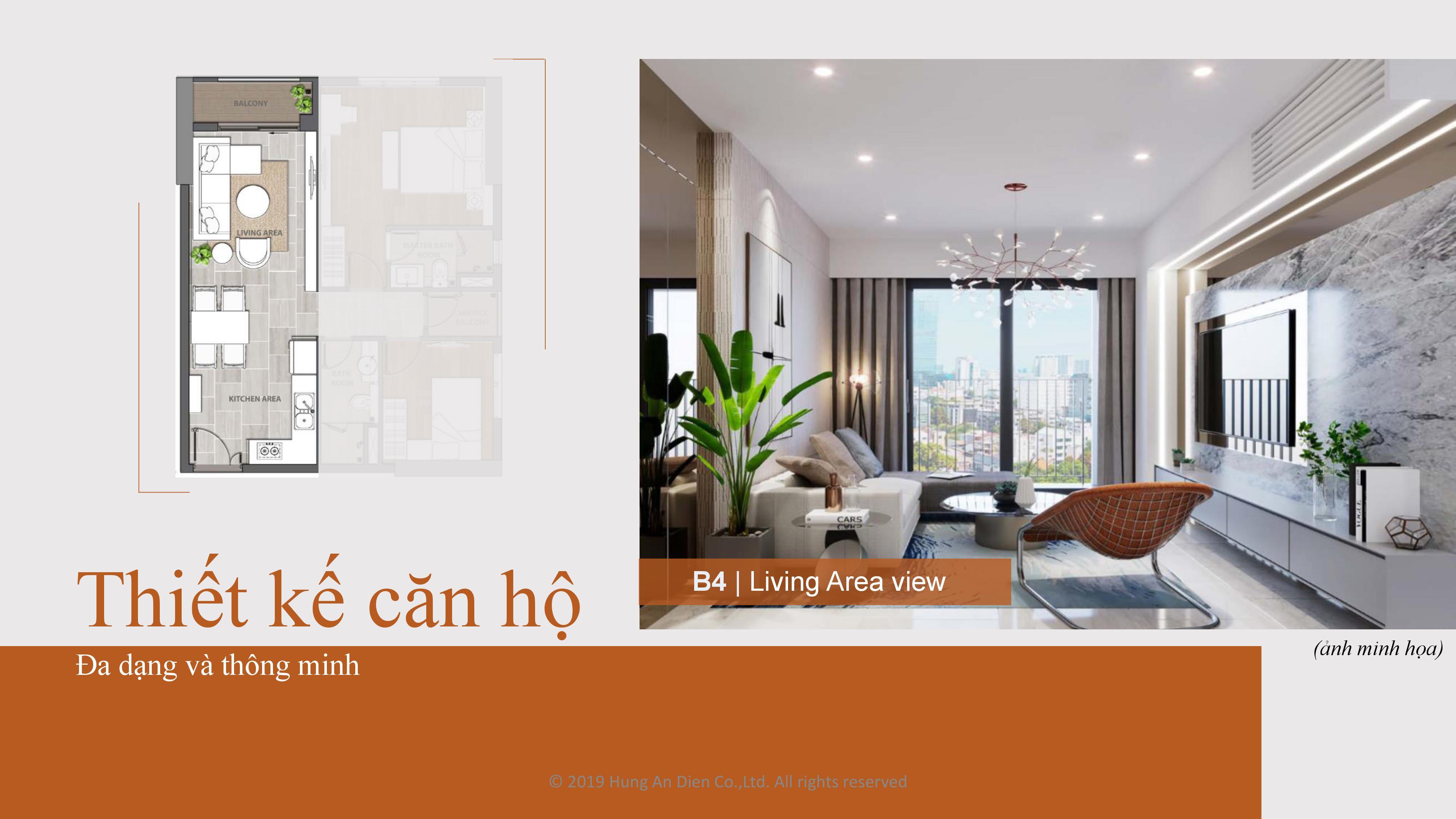 Thiết kế căn hộ Aio City hình 04