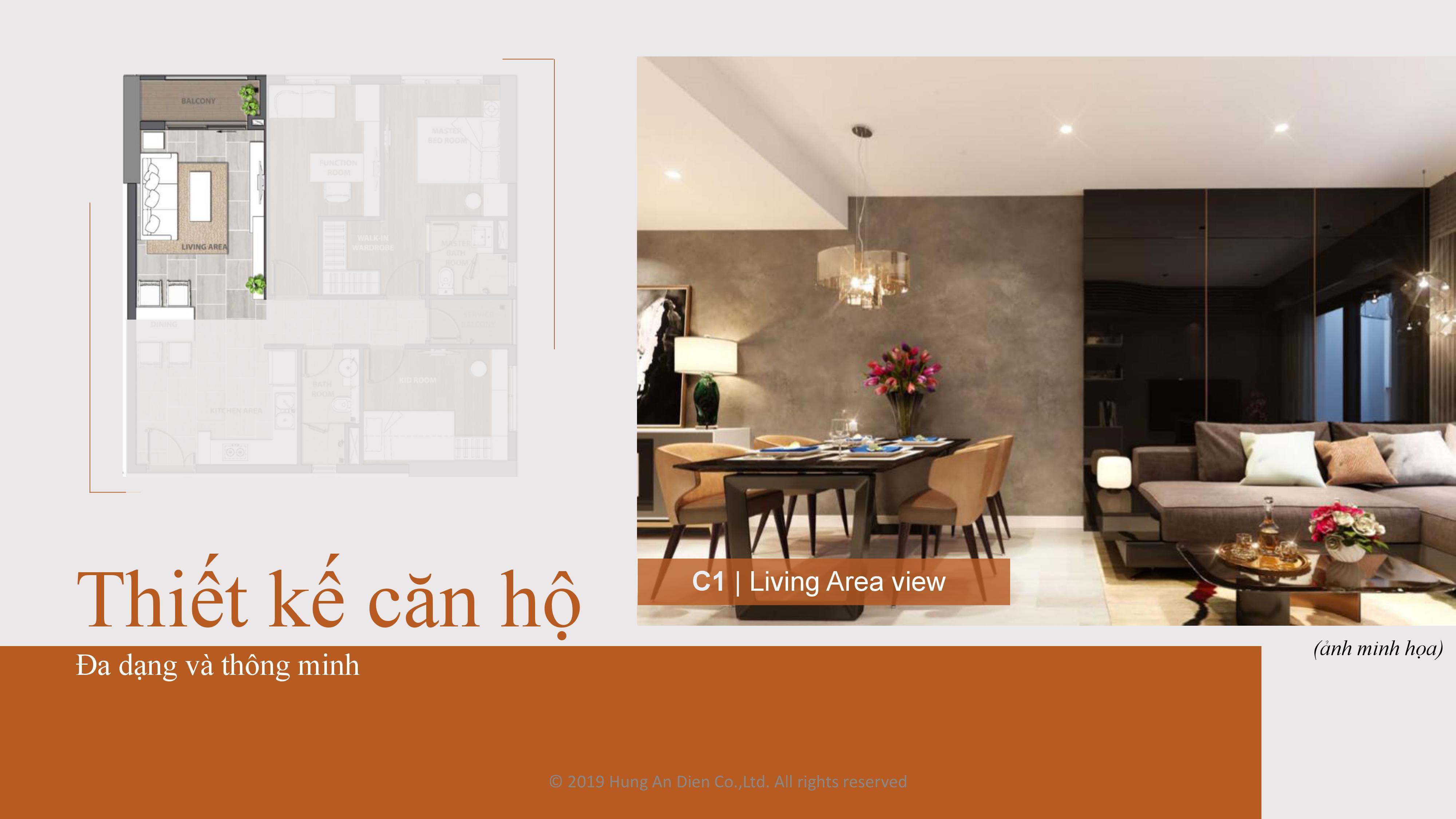 Thiết kế căn hộ Aio City hình 06