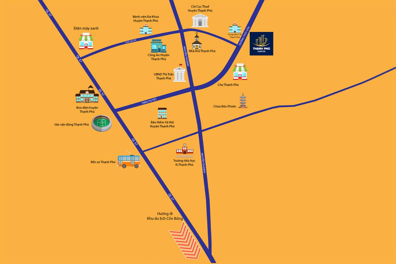Vị trí dự án Thạnh Phú Center