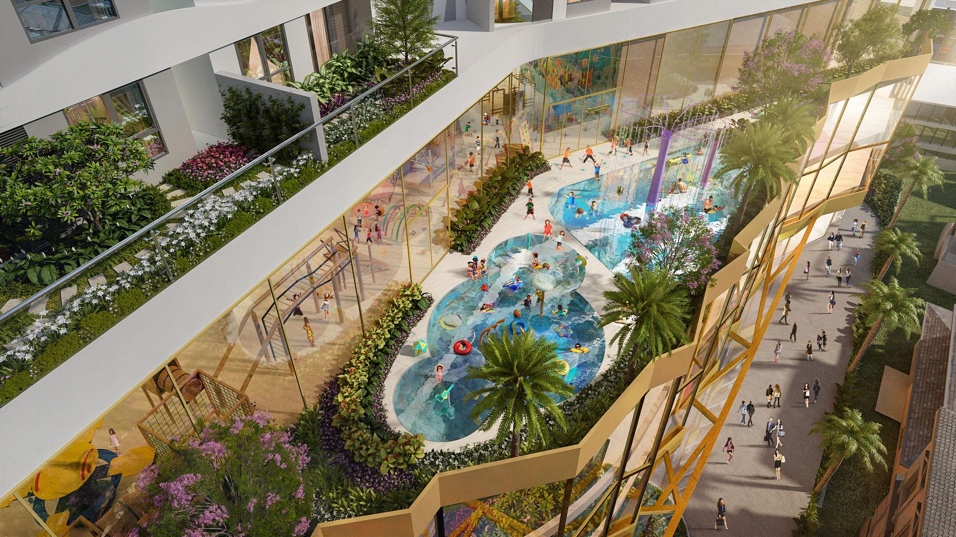 Hồ bơi nội khu dự án D-Homme Hồng Bàng Quận 6