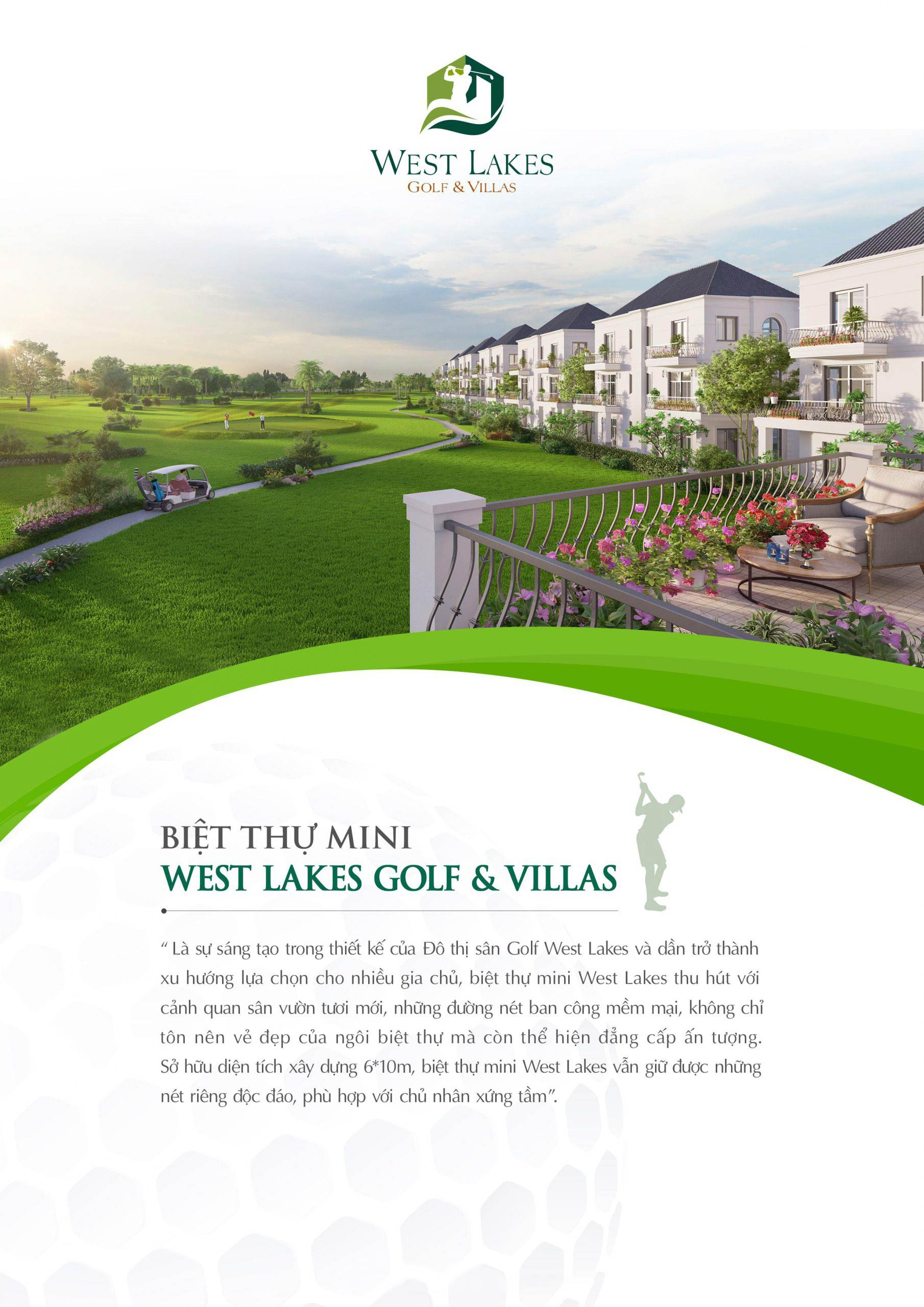 Biệt thự mini West Lakes Golf & Villas Long An 001