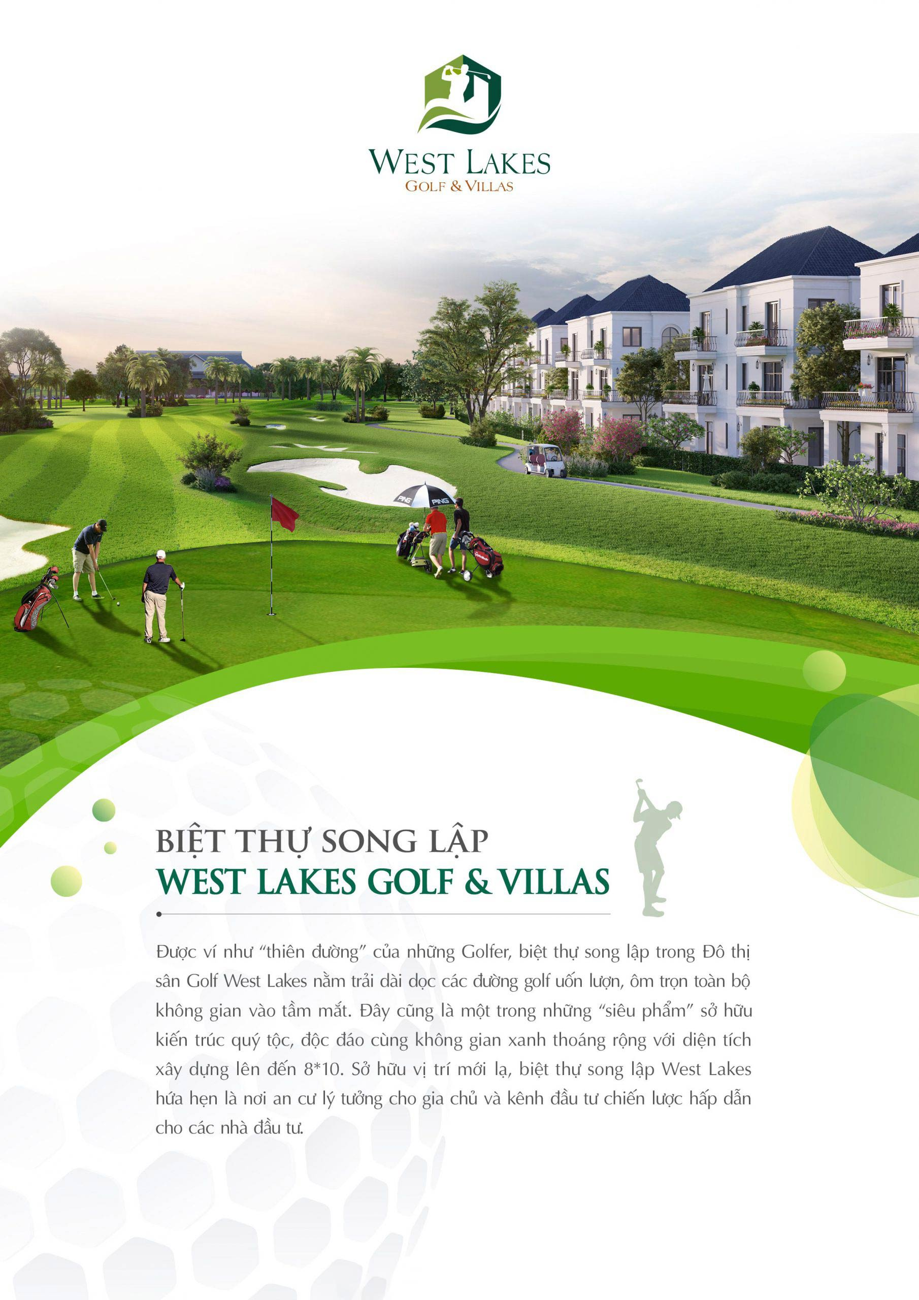 Biệt thự song lập West Lakes Golf Villas 001