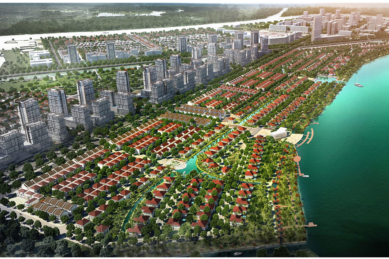 Một phần khu đô thị Waterpoint của chủ đầu tư Nam Long