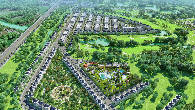 Phối cảnh dự án West Lakes Golf & Villas Long An hình 10