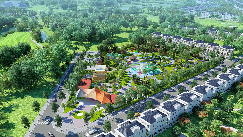 Phối cảnh dự án West Lakes Golf & Villas Long An hình 11