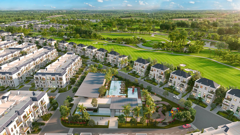 Phối cảnh dự án West Lakes Golf & Villas Long An hình 15