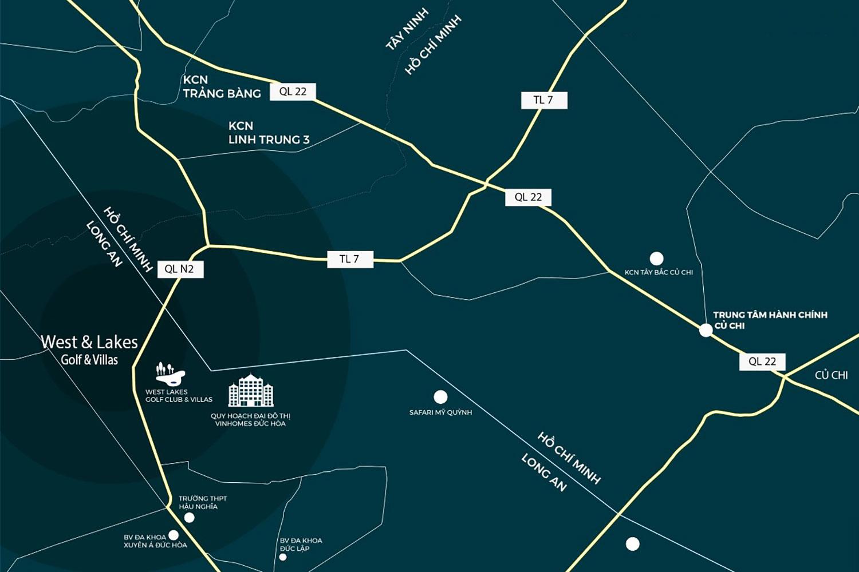 Sơ đồ vị trí khu nghỉ dưỡng West Lakes Golf & Villas