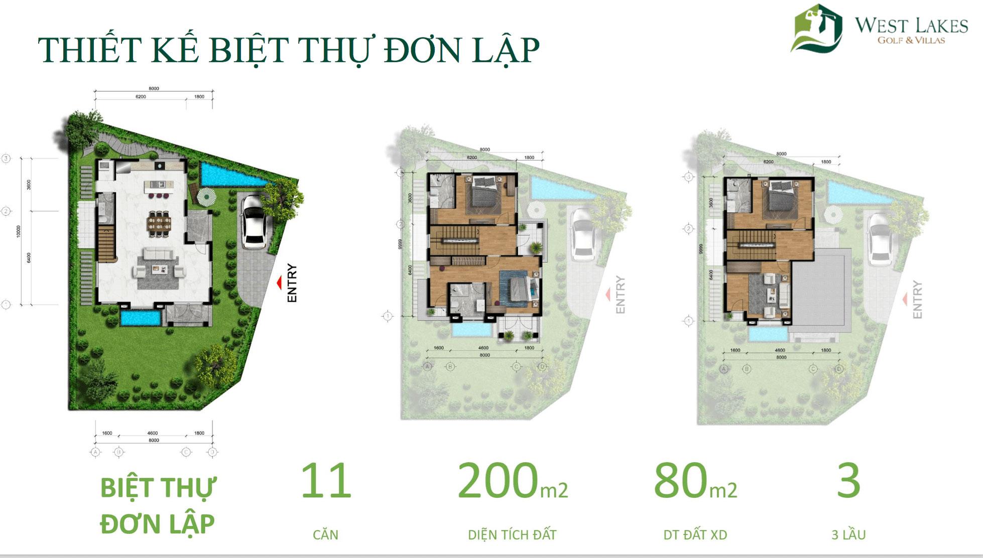 Thiết kế biệt thự đơn lập West Lakes Golf & Villas hình 1biet thu don lap west lakes golf villas hinh 1