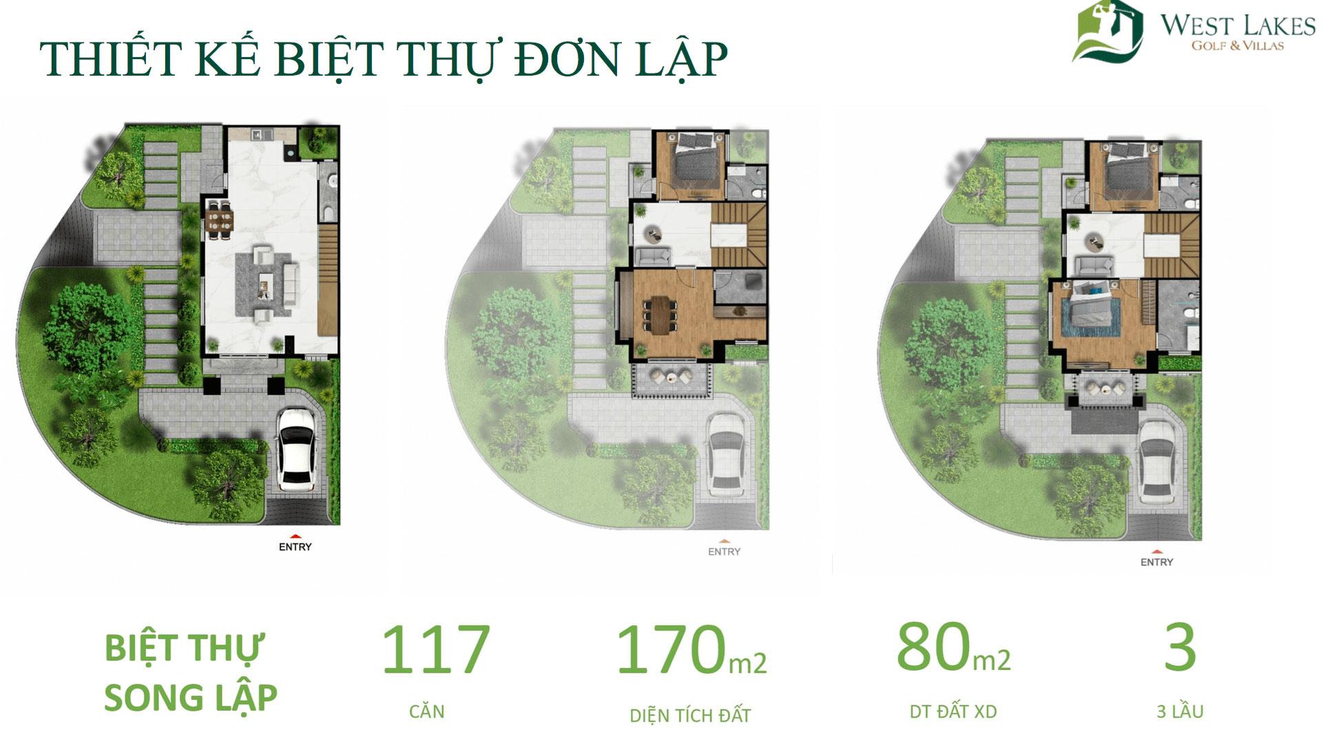 Thiết kế biệt thự song lập West Lakes Golf & Villas hình 2
