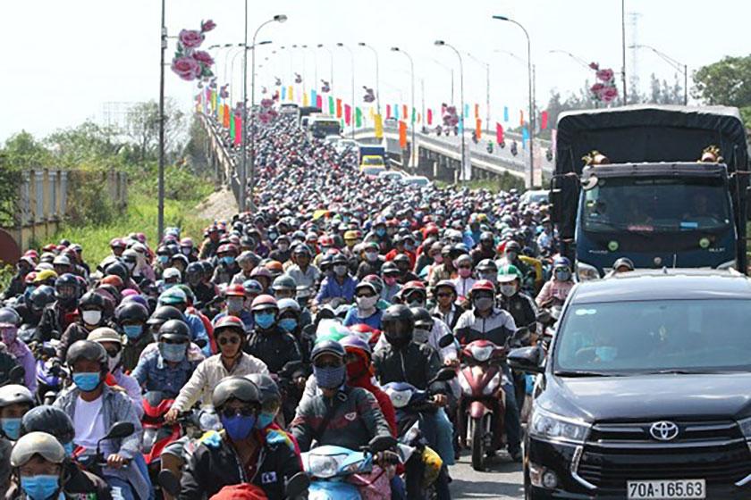 Quốc lộ 1a thường kệt xe vào dịp lễ tết