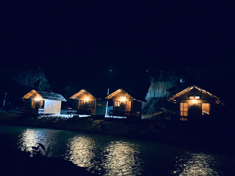 Cảnh đêm tại dự án trang trại sinh thái Lâm Nguyên