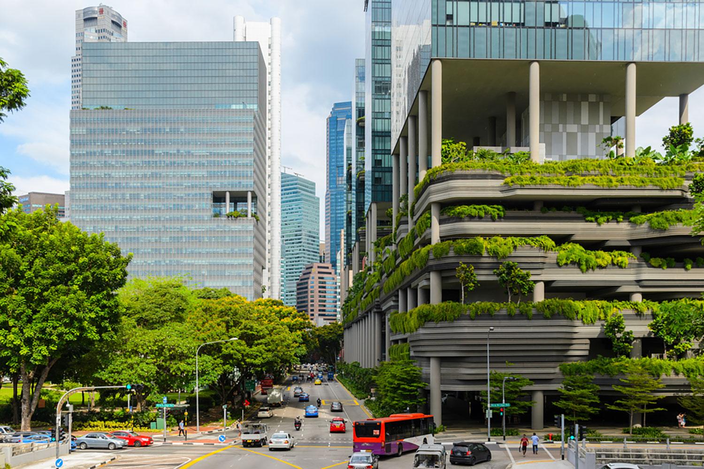 Xây dựng các công trình xanh là giải pháp quan trọng trong việc bảo vệ môi trường và phát triển bền vững. Ảnh: SergeyPeterman/Shutterstock