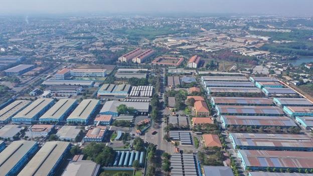 Một góc khu công nghiệp Sông Mây quy mô 473 ha, nơi đang thu hút sự chú ý của nhiều nhà đầu tư bất động sản