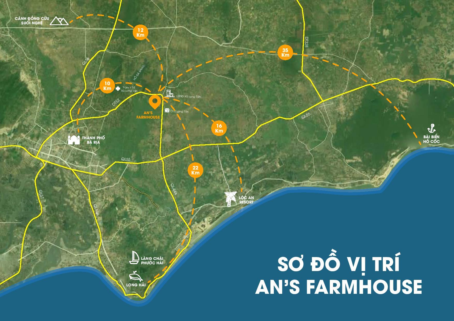 Sơ đồ vị trí dự án An's Farmhouse