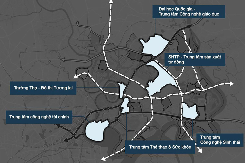 6 khu chức năng chính của Khu đô thị sáng tạo phía Đông TP.HCM