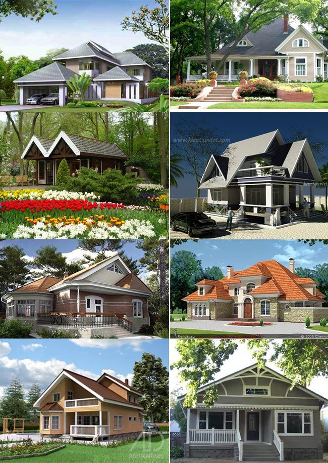 Mẫu nhà vườn phong cách Châu Âu