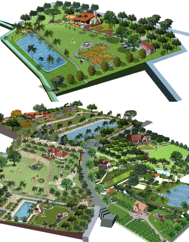 Một số mẫu qui hoạch nhà vườn