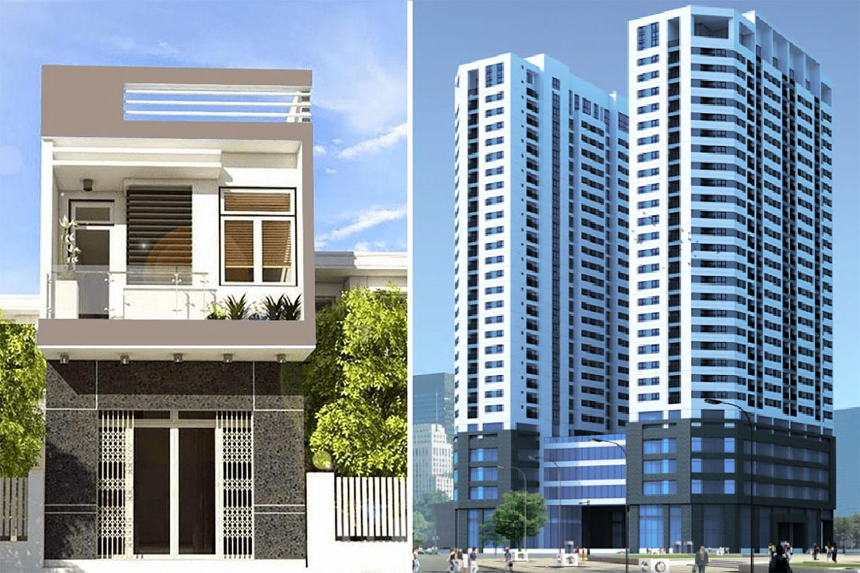 Dù chuộng nhà đất hơn nhưng nhiều người vẫn quyết định mua căn hộ chung cư do tài chính hạn hẹp. Ảnh minh họa